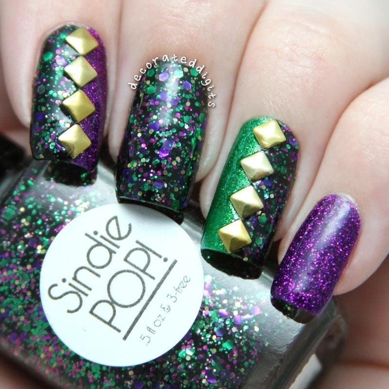 Voodoo Queen skittlette nail art by Jordan