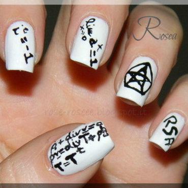 Math nails nail art by Rose
