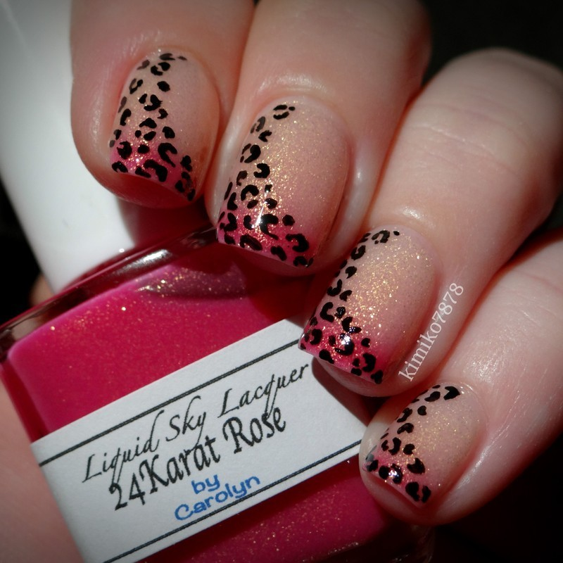 Thermal Leopard nail art by Kim