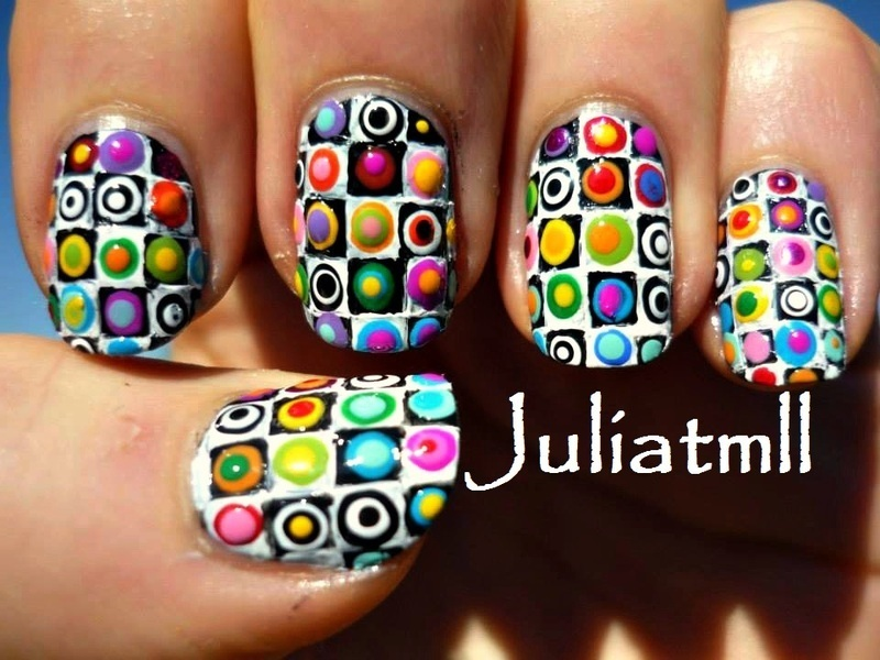Spring time colors nail art by Julia