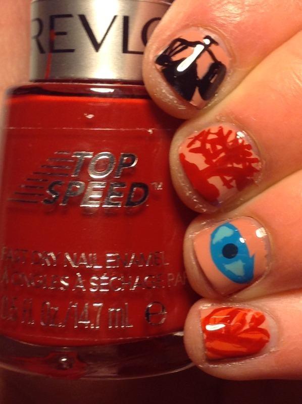 Divergent Inspired Nail Art nail art by Kacey  Nelsestuen