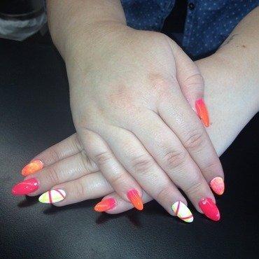 Neon Neon! nail art by Laurelle Alexandra