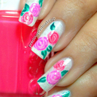 Rose nail art 2 001 thumb370f