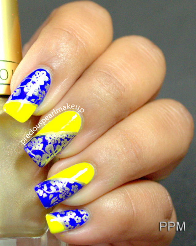 Bright and Bold nail art by Pearl P.