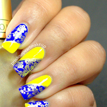 Bright and Bold nail art by Pearl P.