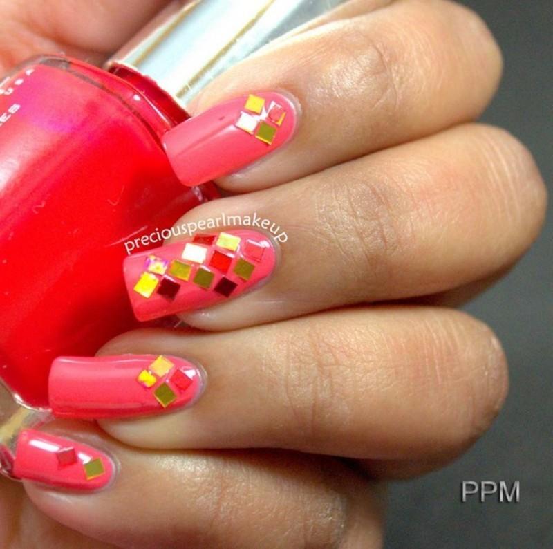 Glitter Nails nail art by Pearl P.
