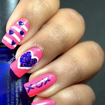 Valentine day nail art 1  2  thumb370f
