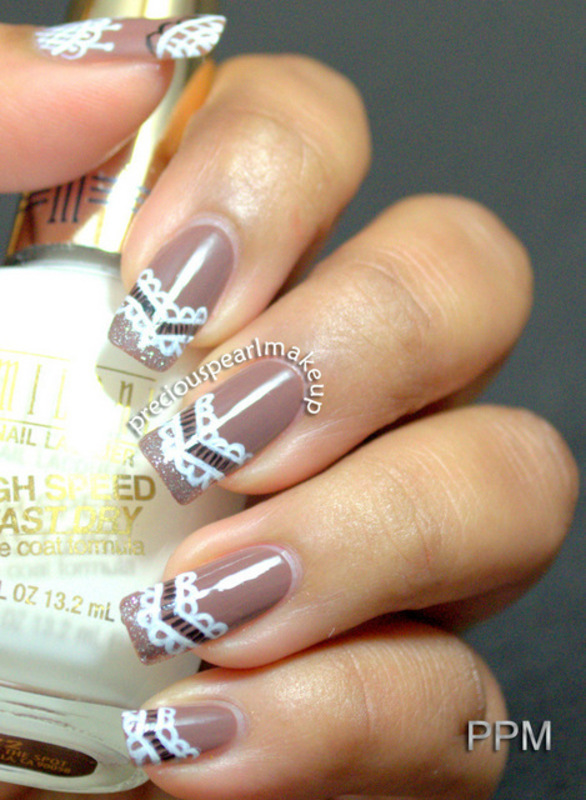 Lace Nails nail art by Pearl P.