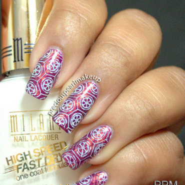 Purple white nail art 001 thumb370f