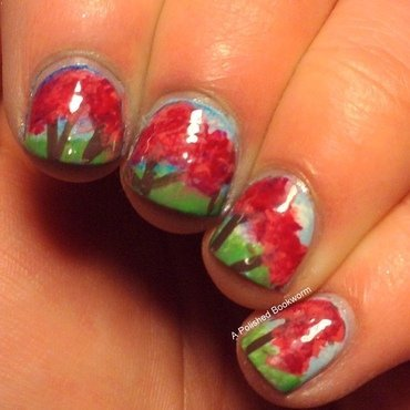 Spring Time Cherry Blossoms nail art by Kacey  Nelsestuen