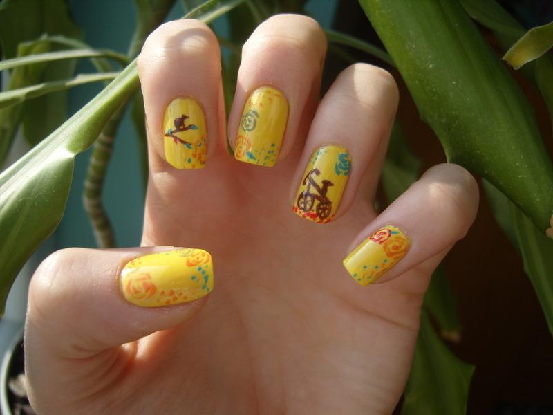 Spring nail art by Lakierowniczka