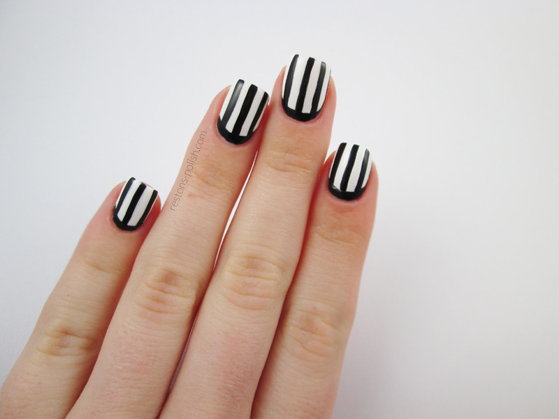 Stripes nail art by Restons polish