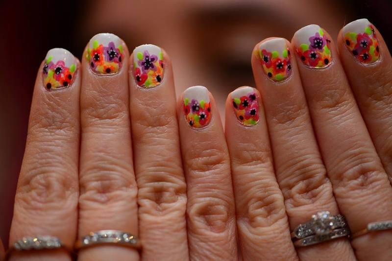 Floral Nails nail art by Marisa