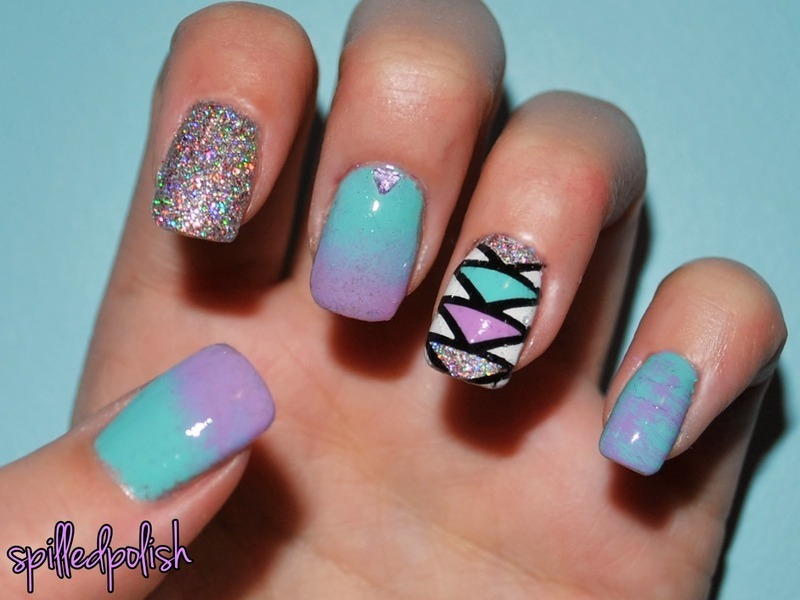 Pastel Mix Up  nail art by Maddy S