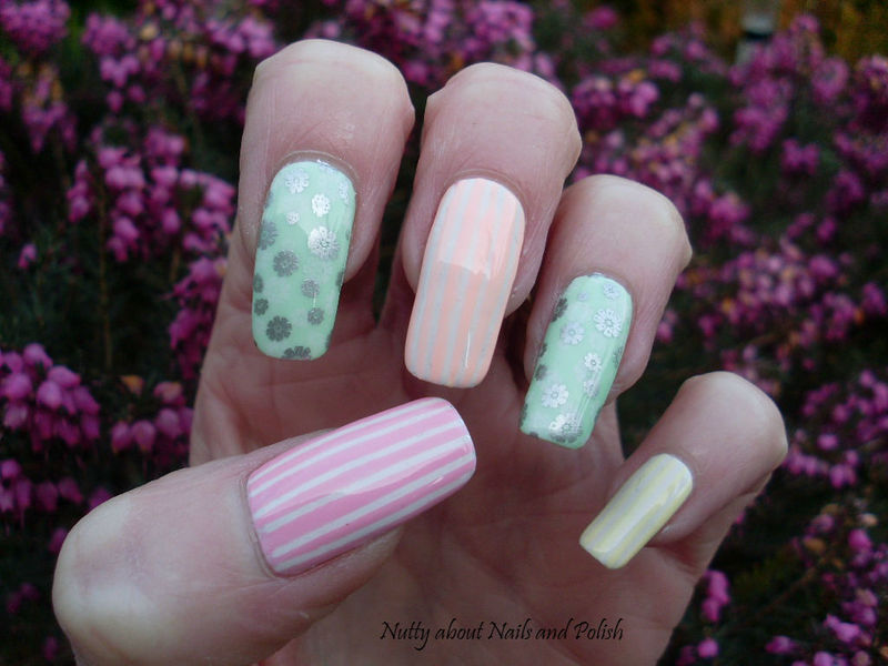 Pastel Spring Nails nail art by Tracey - Bite no more