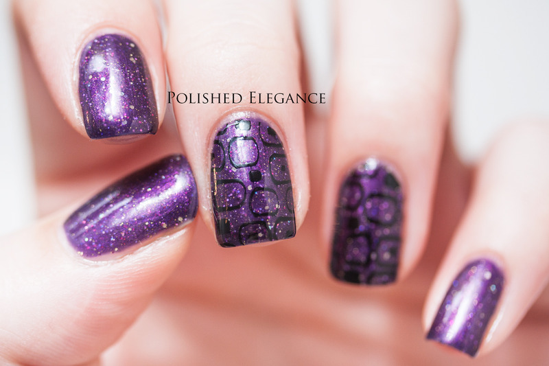 Subtle stamping nail art by Lisa
