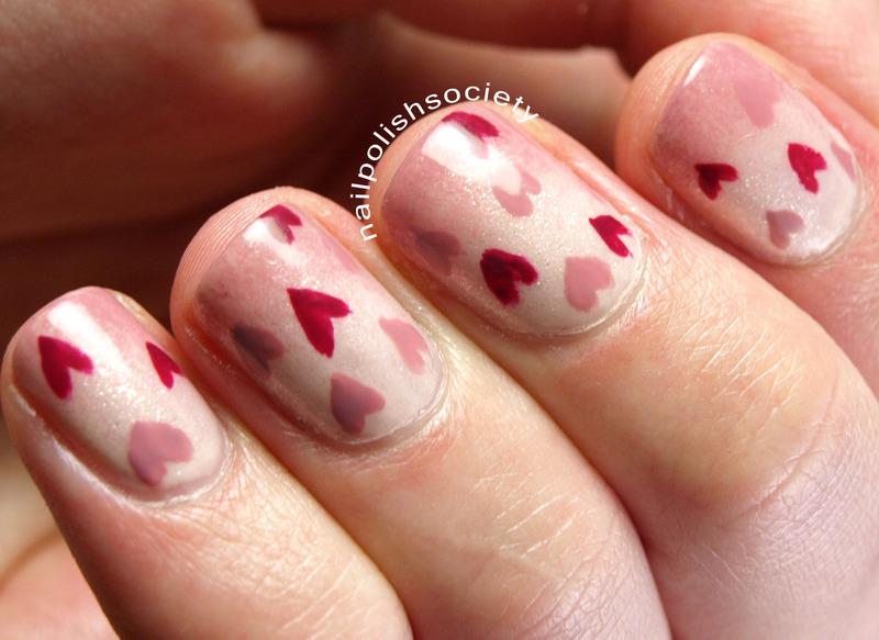 I Heart Valentine's Day nail art by Emiline Harris