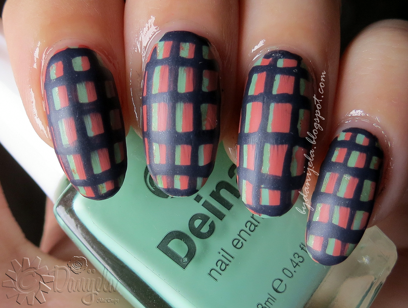 Vintage plaid nail art by bydanijela