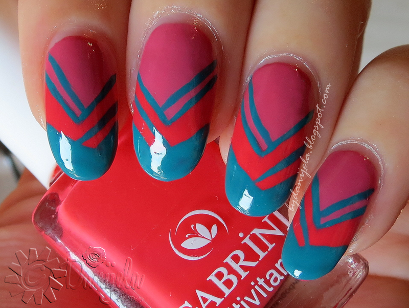 Gabrini nails nail art by bydanijela