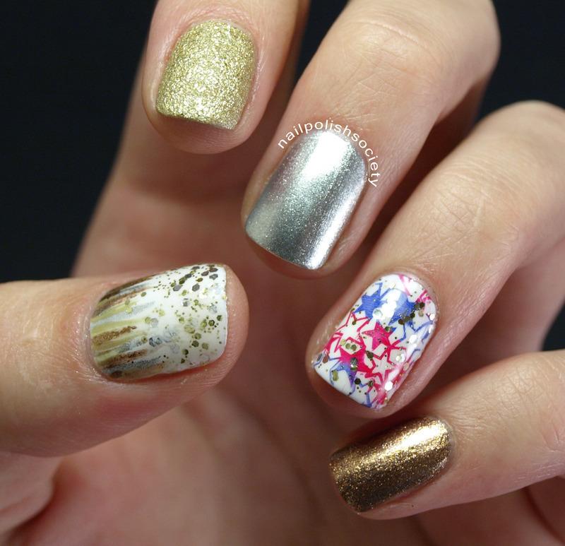 Sochi Olympics Fever nail art by Emiline Harris