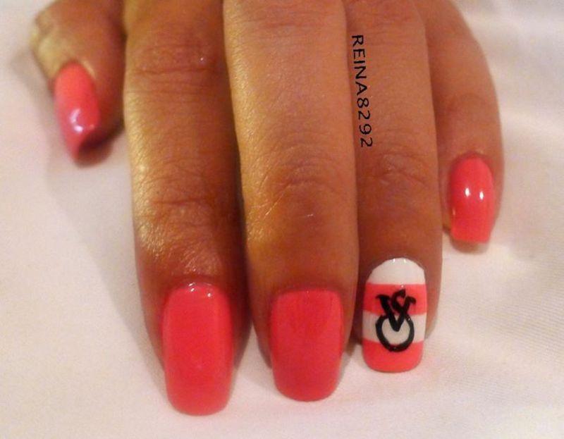 Victoria's Secret Nails nail art by Reina