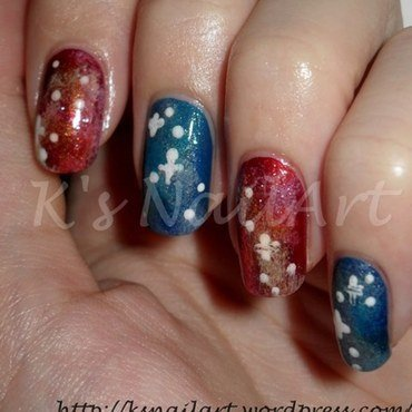 """Galaxy Nails nail art by Kairi E """"K's NailArt"""""""