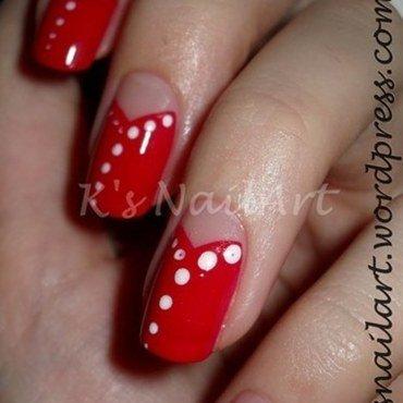 "Red Halfmoons nail art by Kairi E ""K's NailArt"""