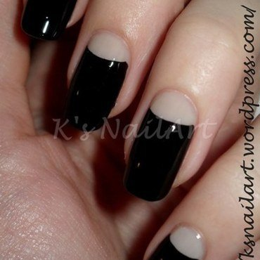 Black halfmoon nails 1 thumb370f