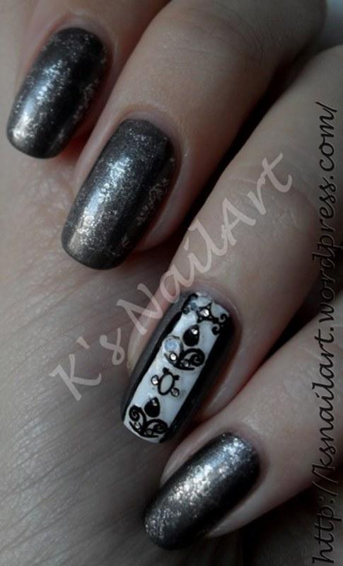"""Wallpaper Nails nail art by Kairi E """"K's NailArt"""""""
