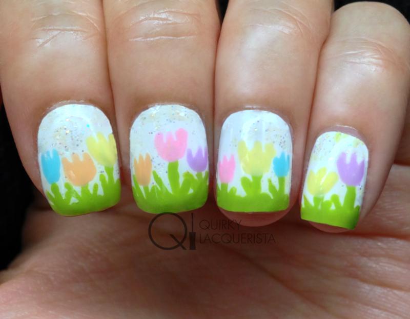 Tulips nail art by Kimmi