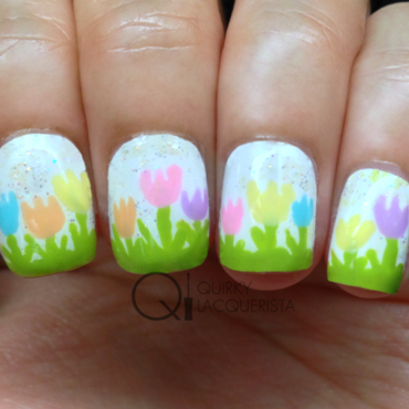 Tulips nail art by Kimmi