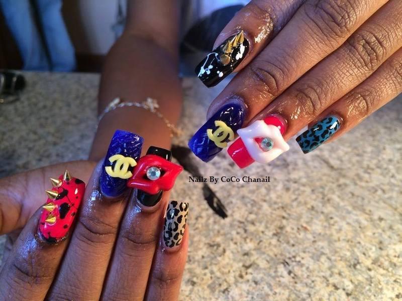 Spike Sensation nail art by Nic  Ridge