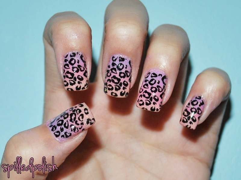 Cheetah Print Graident Nails nail art by Maddy S - Cheetah Print Graident Nails Nail Art By Maddy S - Nailpolis: Museum