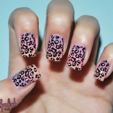 Cheetah Print Graident Nails nail art by Maddy S