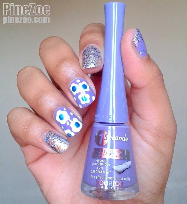 Spring Flowers nail art by Pinezoe