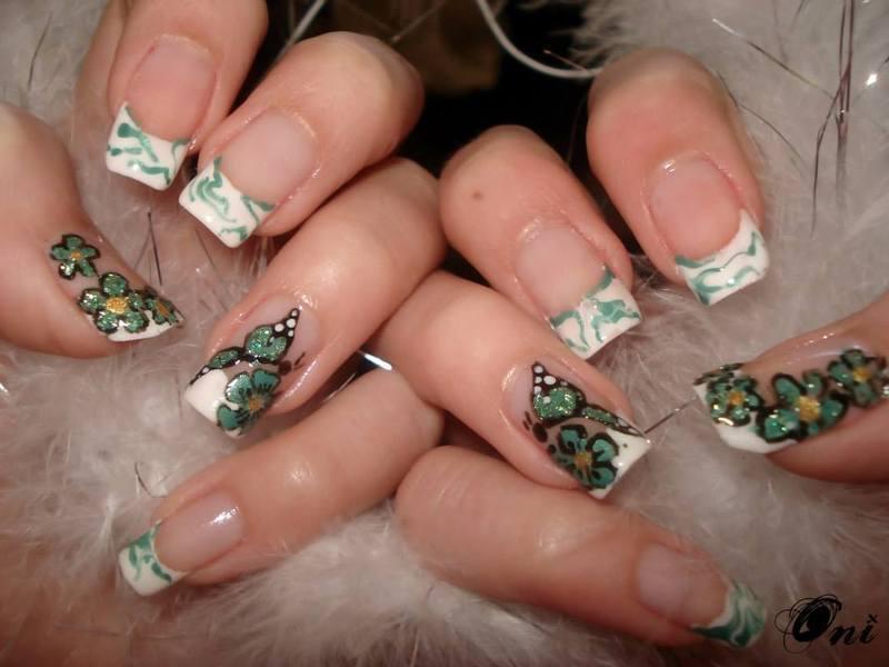 Spring butterfly nail art by Stegaru  Oana