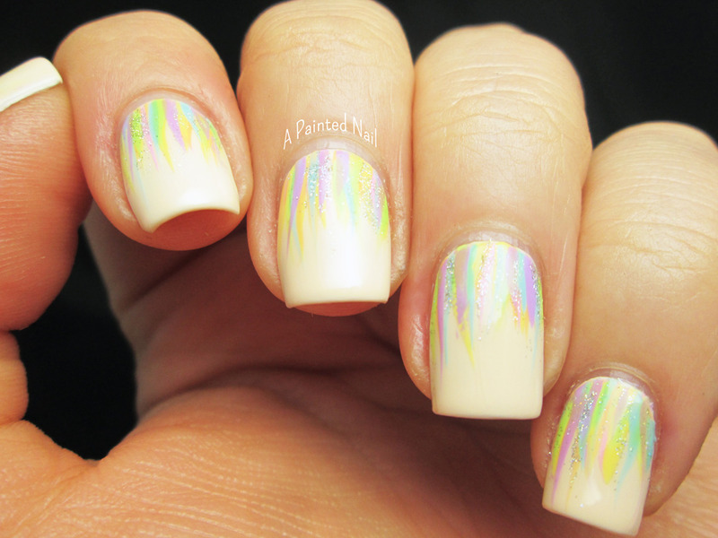 Rainbow Waterfall Nails nail art by Bridget Reynolds