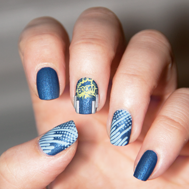 Rock in Blue nail art by Chasing Shadows