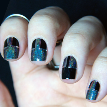 Black on Black (or so I thought) nail art by Chasing Shadows