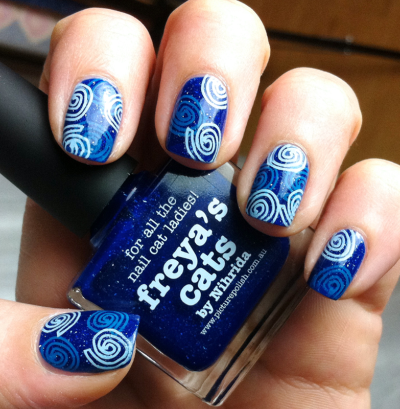 Funny Spirals nail art by Chasing Shadows