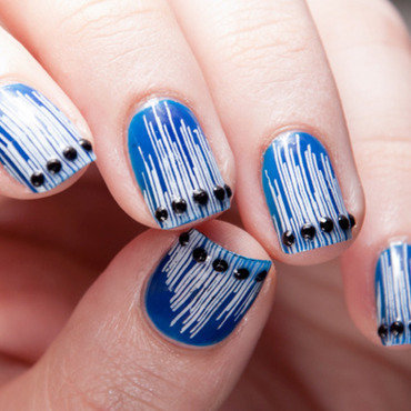 Fringes and Studs nail art by Chasing Shadows
