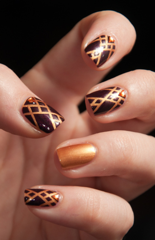 Medieval Geometry nail art by Chasing Shadows
