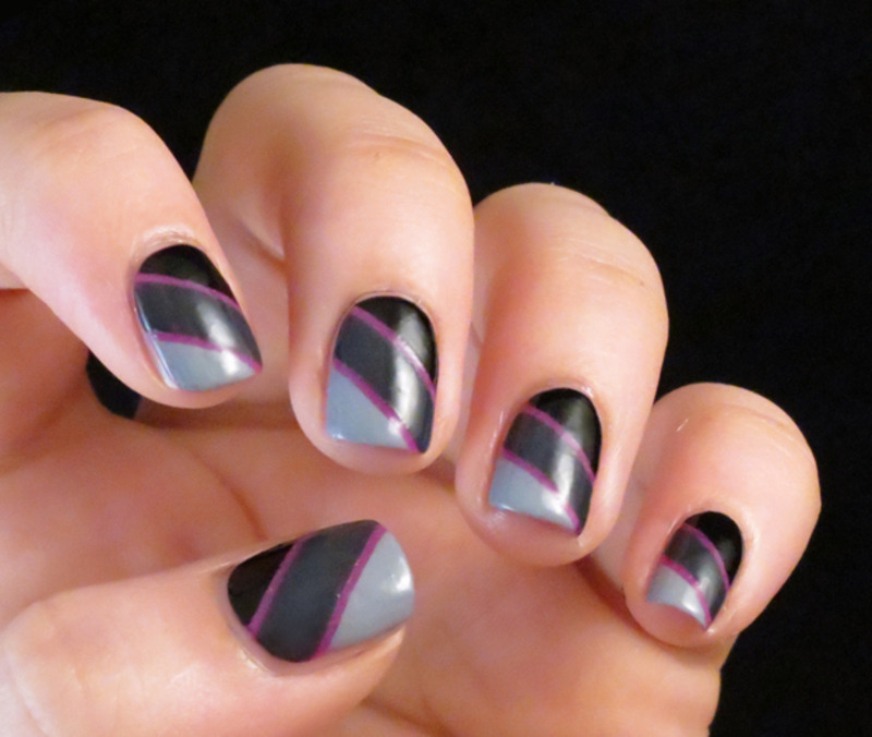 Grey with a Twist nail art by Chasing Shadows