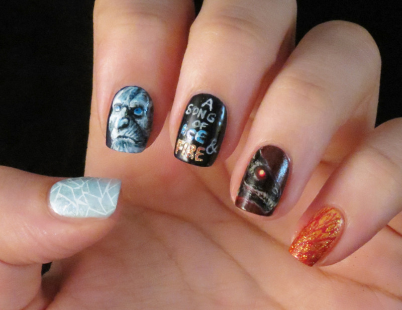 A Song of Ice and Fire nail art by Chasing Shadows