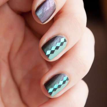 Something of Arlequin nail art by Chasing Shadows