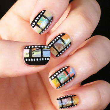 Movie Manicure nail art by Chasing Shadows