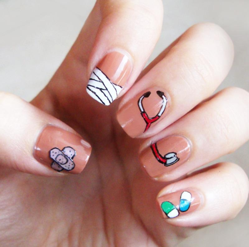 Doctor nails nail art by Chasing Shadows