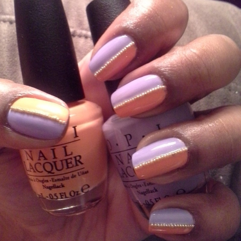 half n half nail art by gracefulnailz02