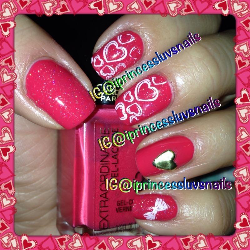 Love you  nail art by Lea