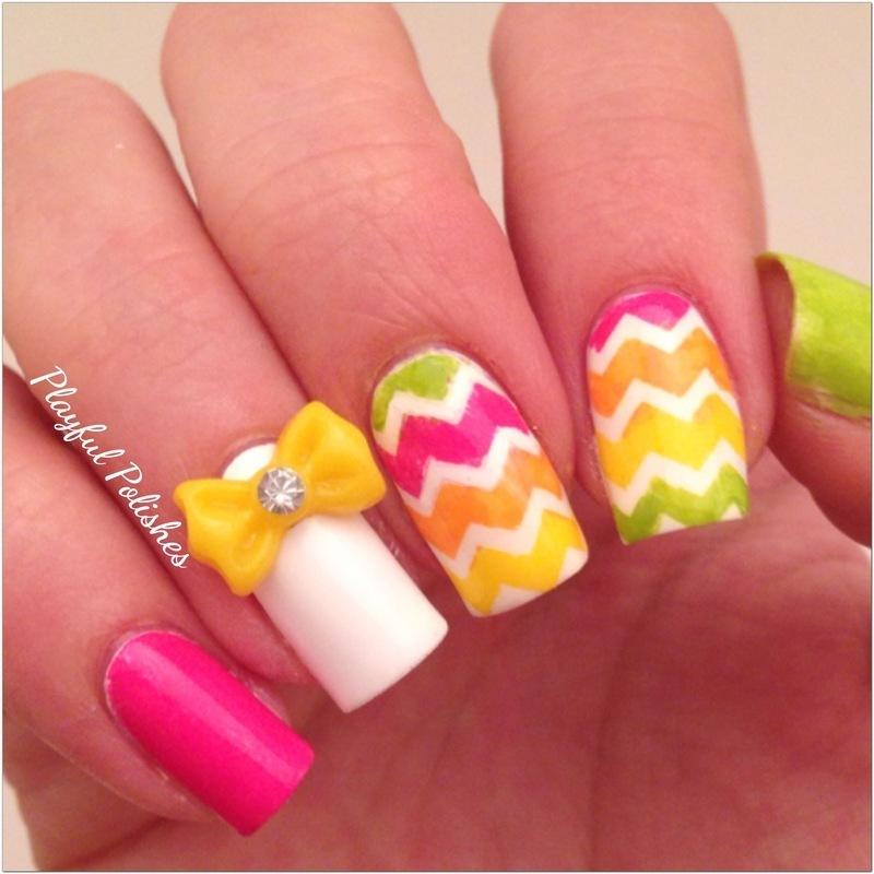 Spring Nail Art nail art by Playful Polishes